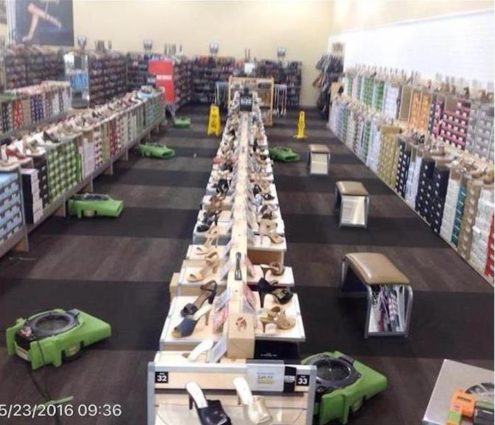 Commercial Water Damage – Clayton Retail Shoe Store