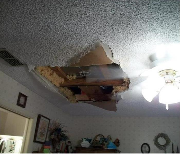 A Water Damaged Falling Ceiling in Ladue
