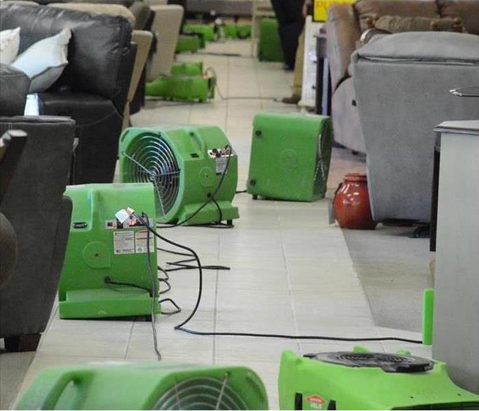 drying equipment in a building